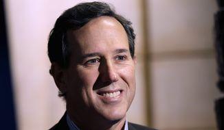 Former Pennsylvania Sen. Rick Santorum (Associated Press) **FILE**