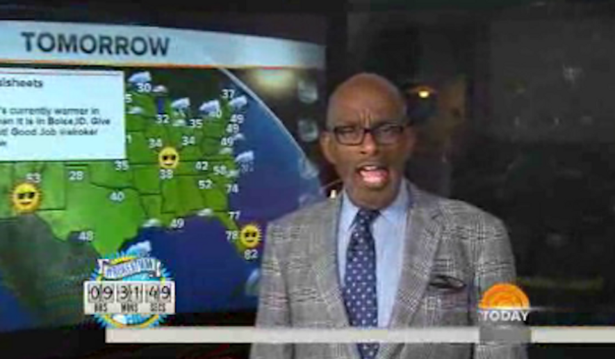 Al Roker's attempt to set a world record for the longest uninterrupted weather report took an unexpected turn on NBC Wednesday night when the weatherman forgot to turn off his microphone before taking his first bathroom break. (NBC News)