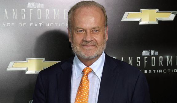 """This June 25, 2014, file photo shows actor Kelsey Grammer at the premiere of """"Transformers: Age of Extinction"""" in New York. (Photo by Andy Kropa/Invision/AP, File)"""