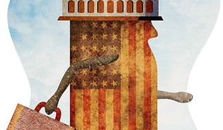 Congress Moves to DC Illustration by Greg Groesch/The Washington Times