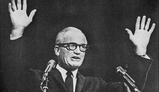 Goldwater during at a California campaign stop in July, 1964 (AP Photo)