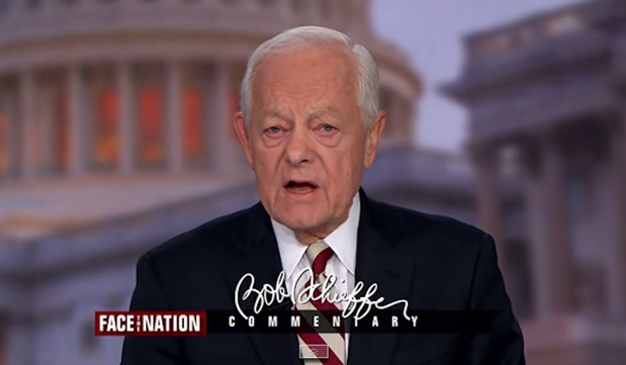 """CBS News anchor Bob Schieffer said Sunday morning that he was """"dumbstruck"""" by the controversial comments by Obamacare architect Jonathan Gruber, arguing that if the law is as bad as Mr. Gruber says, he should have no problem returning the money he made off of it back to the American people. (CBS News via Real Clear Politics)"""