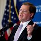 Anti-tax activist Grover Norquist, speaks at the National Press Club, in Washington, Thursday, Sept. 4, 2014.    (AP Photo/Manuel Balce Ceneta) ** FILE **