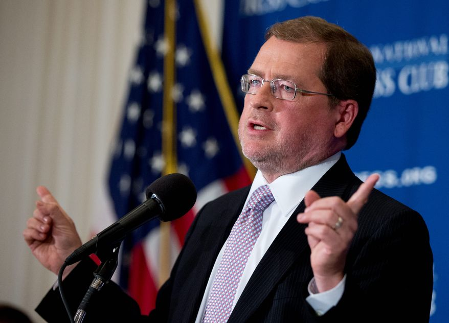 Anti-tax activist Grover Norquist, speaks at the National Press Club, in Washington, Thursday, Sept. 4, 2014. (AP Photo/Manuel Balce Ceneta) ** FILE **