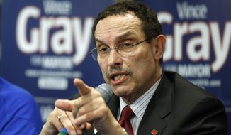Then-D.C. Mayor Vincent Gray speaks in Washington, in this March 19, 2014, file photo. (AP Photo/Alex Brandon, File)