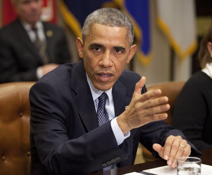 President Obama speaks in the Roosevelt Room of the White House in Washington on Nov. 18, 2014. (Associated Press) **FILE**