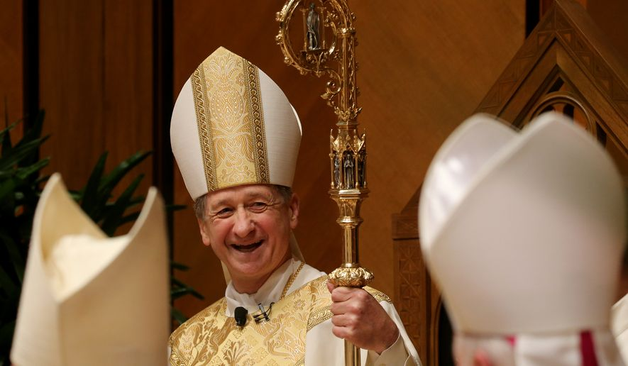 Chicago Archbishop Blase Cupich smiles during his Installation Mass at Holy Name Cathedral, Tuesday, Nov. 18, 2014, in Chicago. Cupich was named in September by Pope Francis to succeed the retiring Cardinal Francis George. (AP Photo/Chicago Tribune, Antonio Perez, Pool)