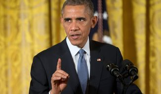 President Obama's speech on temporary amnesty is planned for 8 p.m. Thursday. (Associated Press)