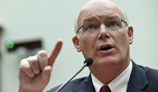 Acting Secret Service Director Joseph Clancy testifies on Capitol Hill in Washington, Wednesday, Nov. 19, 2014, before the House Judiciary Committee hearing on oversight of the Secret Service. (AP Photo/Susan Walsh)