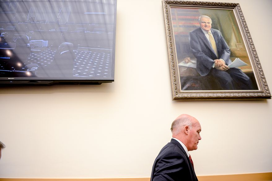 United States Secret Service Acting Director Joseph P. Clancy leaves after testifying in front of the House Judiciary Committee which oversees the Secret Service, Washington, D.C., Wednesday, November 19, 2014. (Andrew Harnik/The Washington Times)