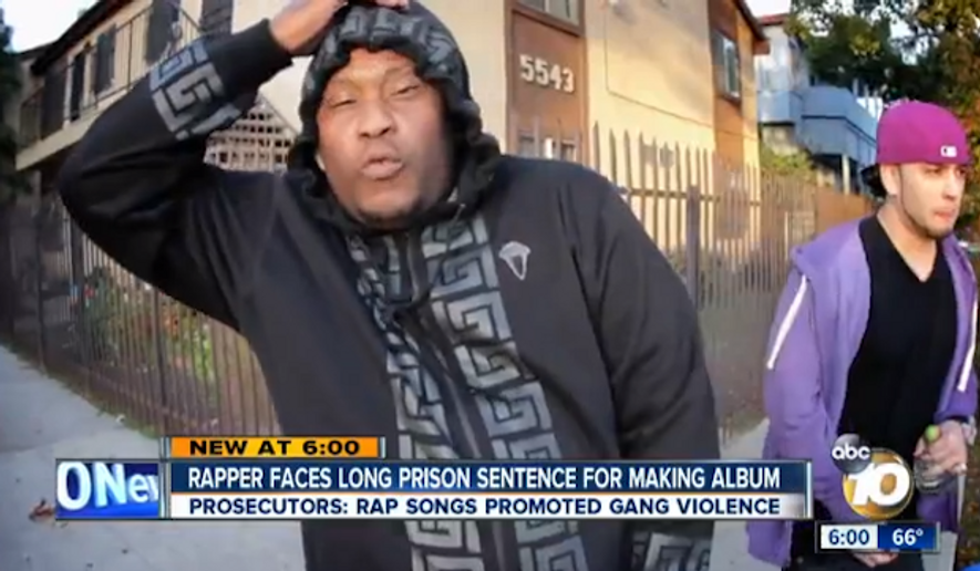 Brandon Duncan, a rapper in California known as Tiny Doo, is facing attempted murder charges because prosecutors claim he benefitted in the music industry from crimes committed by other gang members. (ABC 10)