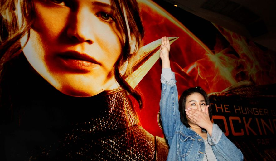 Hunger Games Inspires Thai Protesters Three Finger Salute Banned