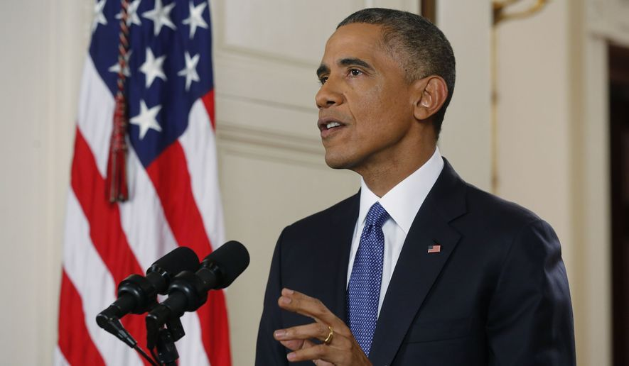 """In a prime-time address from the White House, President Obama said his action on immigration is """"lawful,"""" and he dared Republican critics in Congress to counter him by passing a comprehensive legislation, which he said would be a permanent fix. (Associated Press)"""