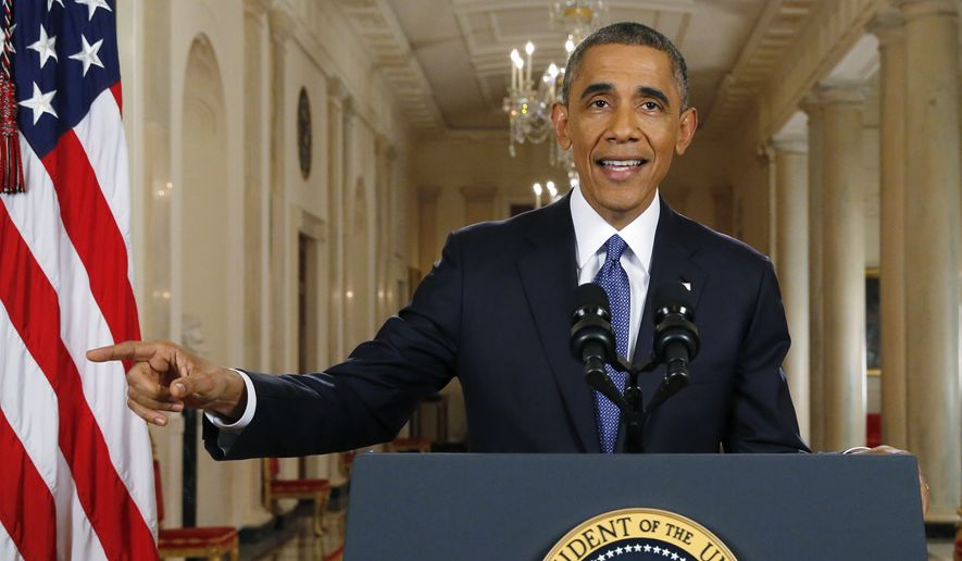 In his strange remarks, the President Obama dismissed the notion that legalizing some five million illegals is somehow amnesty. (Associated Press)
