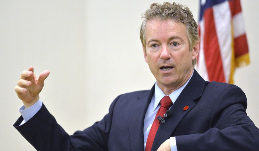 Sen. Rand Paul, Kentucky Republican (AP Photo/Timothy D. Easley)