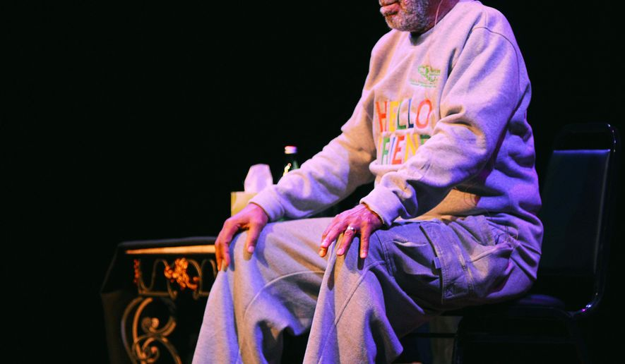 Comedian Bill Cosby performs during a show at the Maxwell C. King Center for the Performing Arts in Melbourne, Fla., Friday, Nov. 21, 2014. Performances by Cosby in Nevada, Illinois, Arizona, South Carolina and Washington state have been canceled as more women come forward accusing the entertainer of sexually assaulting them years ago. (AP Photo/Florida Today, Malcolm Denemark)