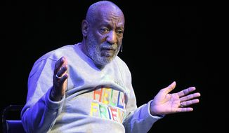 Comedian Bill Cosby performs at the Maxwell C. King Center for the Performing Arts, in Melbourne, Fla., Friday, Nov. 21, 2014. Performances by Cosby in Nevada, Illinois, Arizona, South Carolina and Washington state have been canceled as more women come forward accusing the entertainer of sexually assaulting them years ago. (AP Photo/Phelan M. Ebenhack)