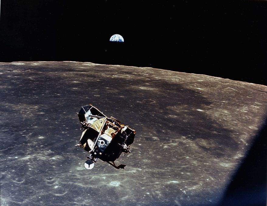 Apollo 11 begins the return trip to earth. Source:NASA
