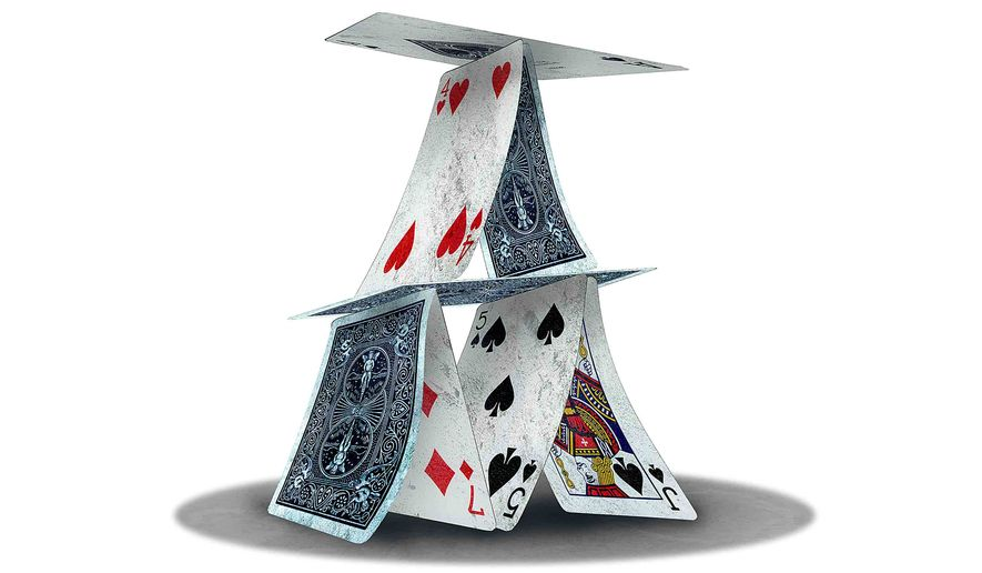 House of Cards Illustration by Greg Groesch/The Washington Times