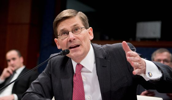 Former CIA Deputy Director Michael Morell testifies on Capitol Hill in Washington, Wednesday, April 2, 2014, before the House Intelligence Committee. (AP Photo/Manuel Balce Ceneta) **FILE**