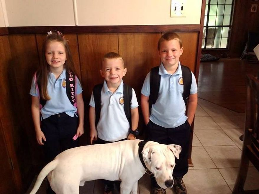 A Louisiana family is fighting to protect their dog Zeus after the village of Moreauville passed an ordinance banning pit bulls and Rottweilers. (Facebook/Saving Zeus)