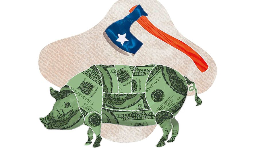 Congress Wields the Budget Ax Illustration by Greg Groesch/The Washington Times