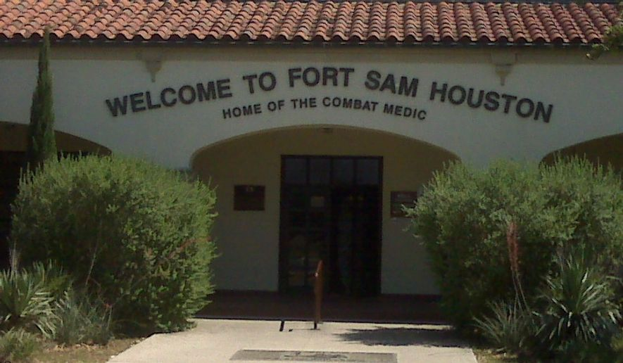 Fort Sam Houston in Texas. (Screen grab from http://www.samhouston.army.mil)
