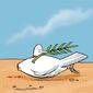 Illustration on Middle East violence by Julius/Horsens Folkeblad, Horsens, Denmark