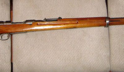 ARISAKA TYPE 38 - was a bolt-action rifle that supplemented the Type 99 Japanese standard infantry rifle during the Second World War. It served the Imperial Japanese Army from 1906 (the 38th year of the Meiji period, hence 'Type 38') through the end of 1945.