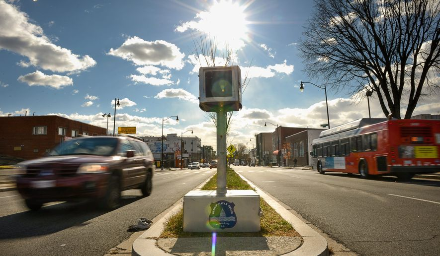 Two outgoing Republican House members are introducing a bill that would ban traffic cameras in D.C. The bill would also withhold federal highway funds from states where the state or local municipalities use traffic cameras. (Andrew Harnik/The Washington Times)