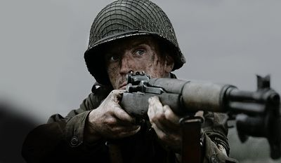 An M-1 depicted in the HBO mini-series Band of Brothers.