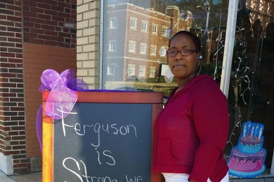 "Natalie Dubose, who owns a bakery in Ferguson, Missouri, says she is ""so humbly blessed"" after receiving nearly $100,000 in online donations to repair her shop that was damaged by looters. (gofundme.com)"