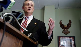 Former Rep. Robert E. Andrews of New Jersey pressed the VA to overturn the moratorium on using FedBid for reverse auctions. Emails show Mr. Andrews received over $11,000 from FedBid in campaign contributions. (Associated Press)