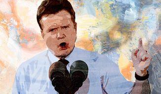Sen. Jim Webb Illustration by Greg Groesch/The Washington Times