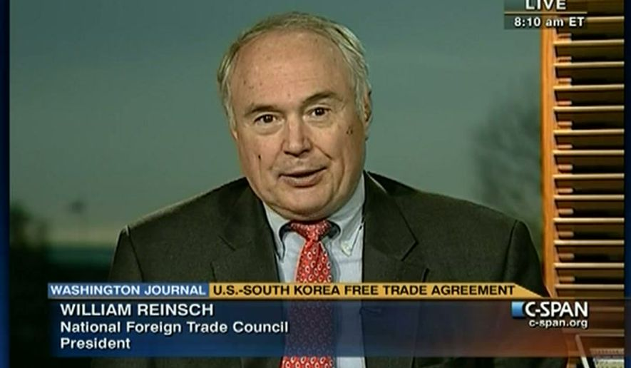 William A. Reinsch, National Foreign Trade Council President. CSPAN