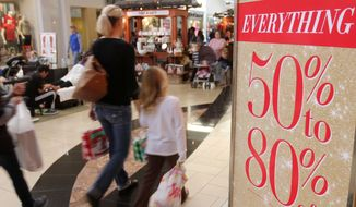 """If you haven't started shopping yet, you're already missing out. There's deals out there,"" said Brian Dodge, spokesman for the Retail Industry Leaders Association. (Associated Press/File)"