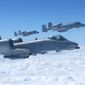 "Air power: ""Nothing reassures and protects friendly forces and scatters and destroys enemy forces like an A-10,"" a target spotters association tells Defense Secretary Chuck Hagel. (Associated Press)"