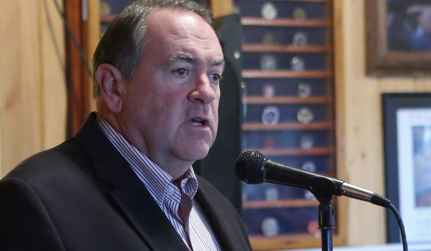 Former Arkansas Gov. Mike Huckabee, a Republican, is one of the few 2016 aspirants to wade boldly into the debate on the side of law and order, suggesting much of the foment has been fanned by third parties who live and work far from the communities they claim to be helping. (Associated Press)