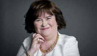 Scottish singer Susan Boyle poses for a portrait in promotion of her upcoming U.S. tour in New York in this June 24, 2014, file photo. (Photo by Amy Sussman/Invision/AP)