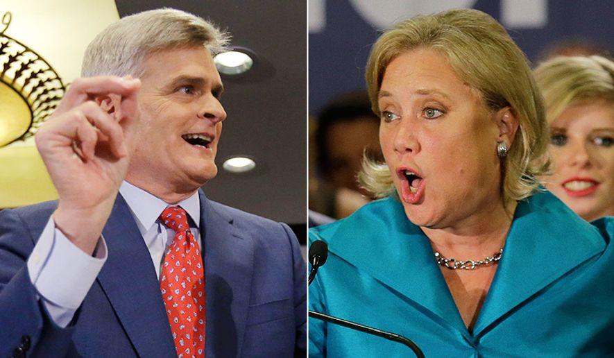 Republican Senate candidate Rep. Bill Cassidy, R-La., (left) is challenging incumbent Sen. Mary Landrieu, D-La.
