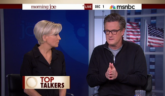"MSNBC host Joe Scarborough blasted the network for what he called ""BS"" coverage of the so-called ""peaceful"" protests in Ferguson, Missouri, following a grand jury's decision not to indict the police officer who killed Michael Brown. (MSNBC)"