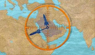 Iranian Aggression in Mideast Illustration by Greg Groesch/The Washington Times