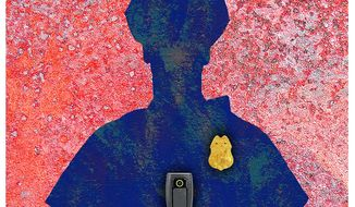 Illustration on the need for police body cameras by Alexander Hunter/The Washington Times