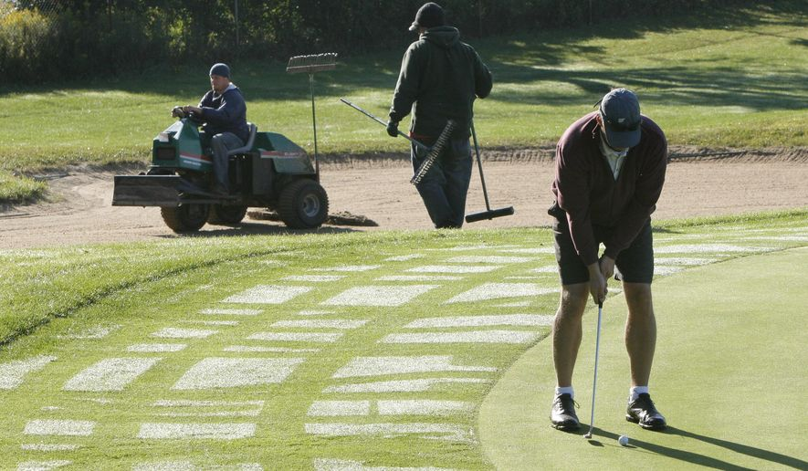 Many communities across America have government-owned golf courses that compete against privately owned courses. The government courses are usually inferior to private courses, and are costly to maintain besides.  (AP Photo/Kalamazoo Gazette-MLive Media Group, Mark Bugnaski) ALL LOCAL TELEVISION OUT; LOCAL TELEVISION INTERNET OUT