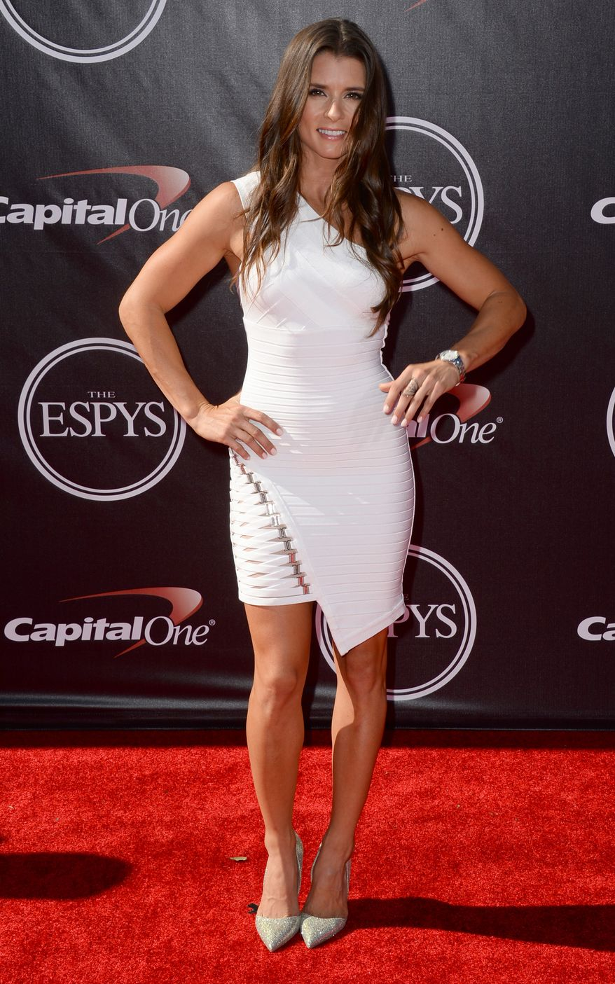 DANICA PATRICK - AUTO RACINGRacer Danica Patrick arrive at the ESPY Awards at the Nokia Theatre on Wednesday, July 16, 2014, in Los Angeles. (Photo by Jordan Strauss/Invision/AP)