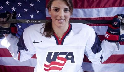 HILARY KNIGHT - ICE HOCKEYUnited States Olympic Winter Games Hockey player Hilary Knight poses for a portrait at the 2013 Team USA Media Summit on Monday, October 2, 2013 in Park City, UT. (AP Photo/Carlo Allegri)