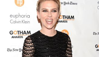 Scarlett Johansson arrives at The Independent Film Project's 24th Annual Gotham Independent Film Awards at Cipriani Wall Street on Monday, Dec. 1, 2014, in New York. (Photo by Evan Agostini/Invision/AP)