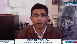 "Conservative author and filmmaker Dinesh D'Souza argued Monday that the Obama administration and ""race hustlers"" like Jesse Jackson and Al Sharpton have ""perfected the art of manufacturing racial resentment."" (Newsmax TV)"
