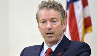 Sen. Rand Paul, R-Ky. speaks in Highland Heights, Ky., in this Nov. 21, 2014, file photo. (AP Photo/Timothy D. Easley, File)