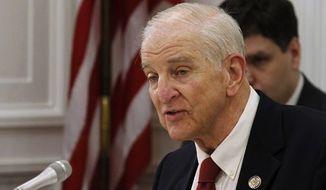 Rep. Sam Johnson, Texas Republican, has sponsored a bill to close the door to Nazi war criminals receiving Social Security benefits.  (AP Photo/Alex Brandon, File) ** FILE **